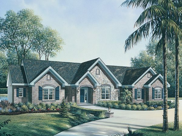 Le Chateau One Story Home From Houseplansandmore Com For The Home Pinterest House Half