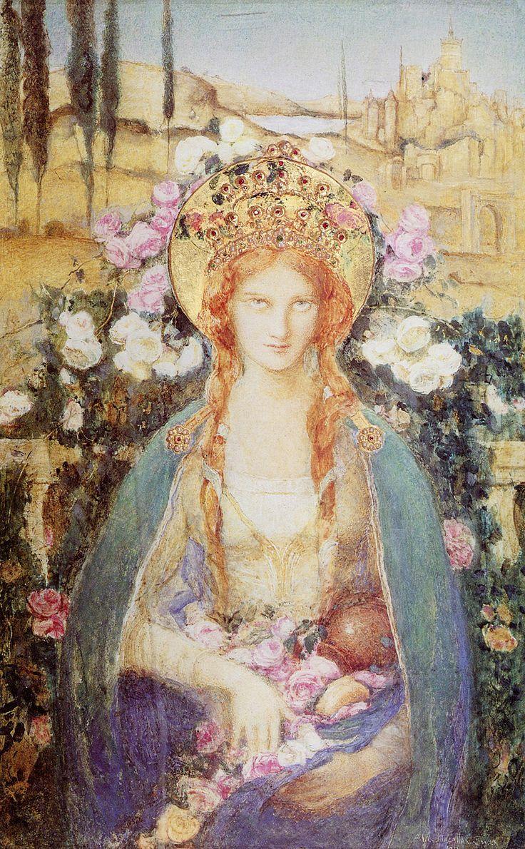 "https://flic.kr/p/nuQr3j   Alice Macallan Swan (British, 1864-1939), ""St. Elizabeth of Hungary"", 1916"