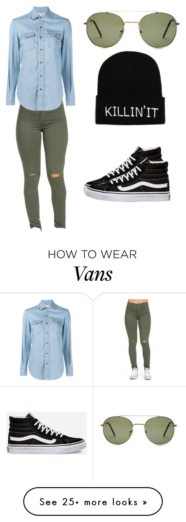 """""""Killin' It"""" by sek2003 on Polyvore featuring Forever 21, Yves Saint Laurent and Vans"""