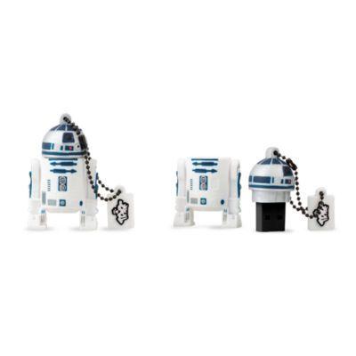 Affida a un'unità R2 il trasporto dei tuoi file importanti! Con 8 GB di capacità, la chiavetta USB di R2-D2 ha proprio la forma del simpatico droide di Star Wars ed è un modo divertente per archiviare documenti, musica, foto e altro ancora.