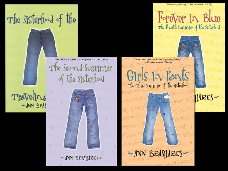 Sisterhood of the Traveling Pants series by Ann Brashares.  There is a fifth book as well, Sisterhood Everlasting.