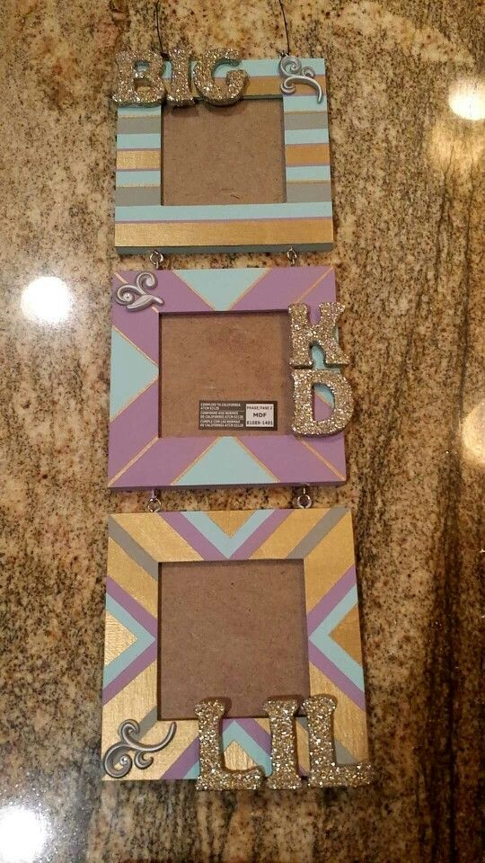 Kappa Delta sorority picture frame big little clue week
