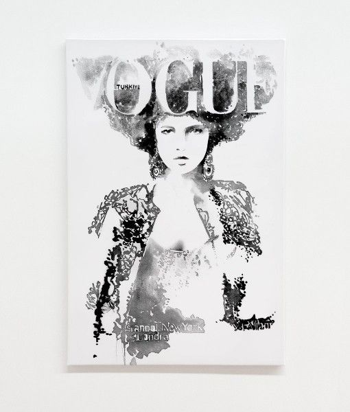 Vogue Cover Turkey Canvas Wall Print- designed by Catherine Parr sold by Home @ Abode