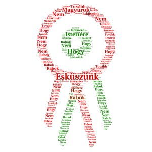 Kokárda word cloud art