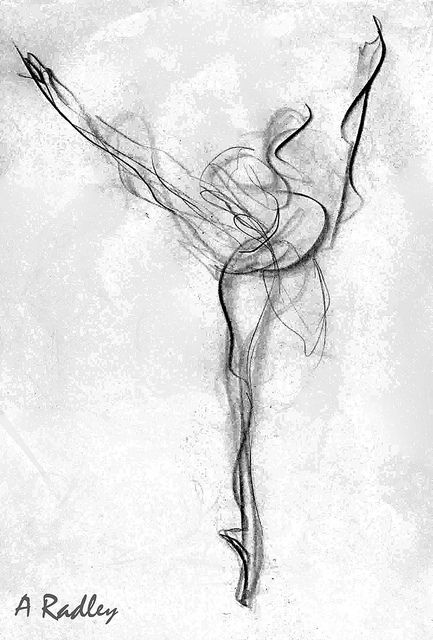 Arabesque Bright copy by balletpainter -  I love gesture art, especially of the human figure in motion and in charcoal or pen & ink.