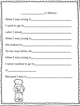 Memoir writing activities high school