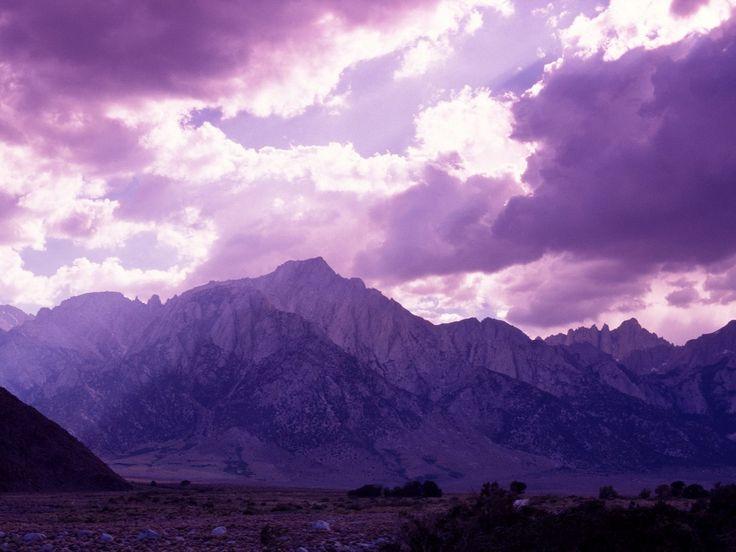 Purple Sky Snowy Mountains Wallpaper 39 Purple Sky