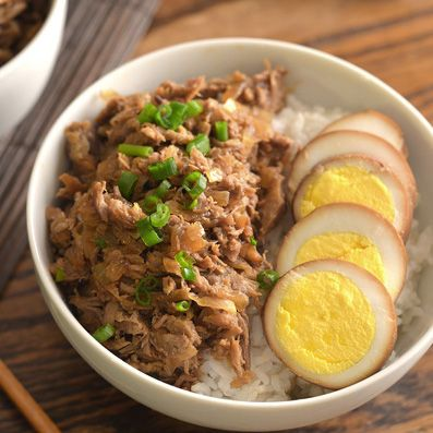 Lu rou fan, or stewed pork with rice, is a very common dish in Taiwan. The pork is seasoned and stewed until very tender and served over rice. Meat that's stewed like this is fork-tender, something I really like. It's a simple and satisfying dish considered comfort food by many. It is very similar to …