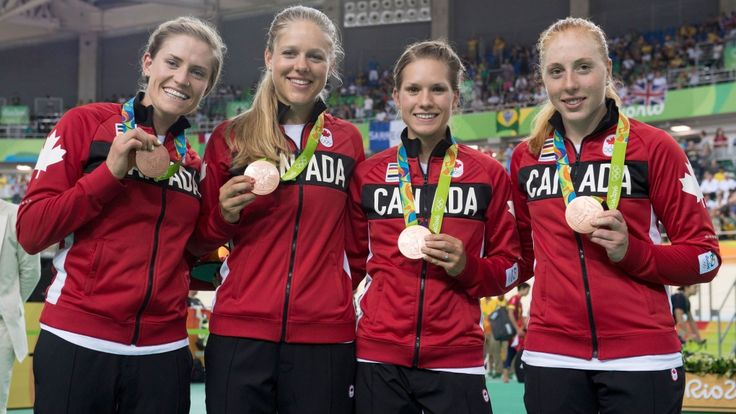 Canada's (right to left) Allison Beveridge, Jasmin Glaesser, Kirsti Lay, and…
