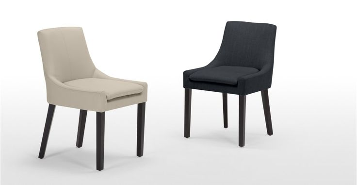 Percy fauteuil met holle rugleuning in middernachtzwart | made.com
