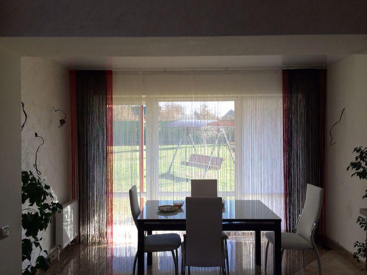 Кухня. Нитяные шторы.