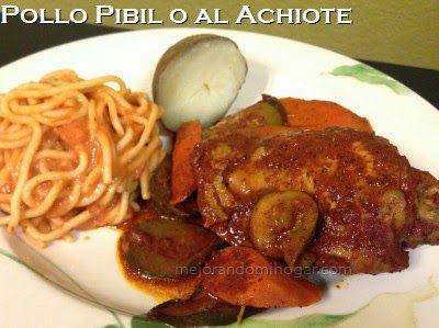 Pollo Pibil o al Achiote, fácil y rápida. Excelente para cuando tienes invitados.