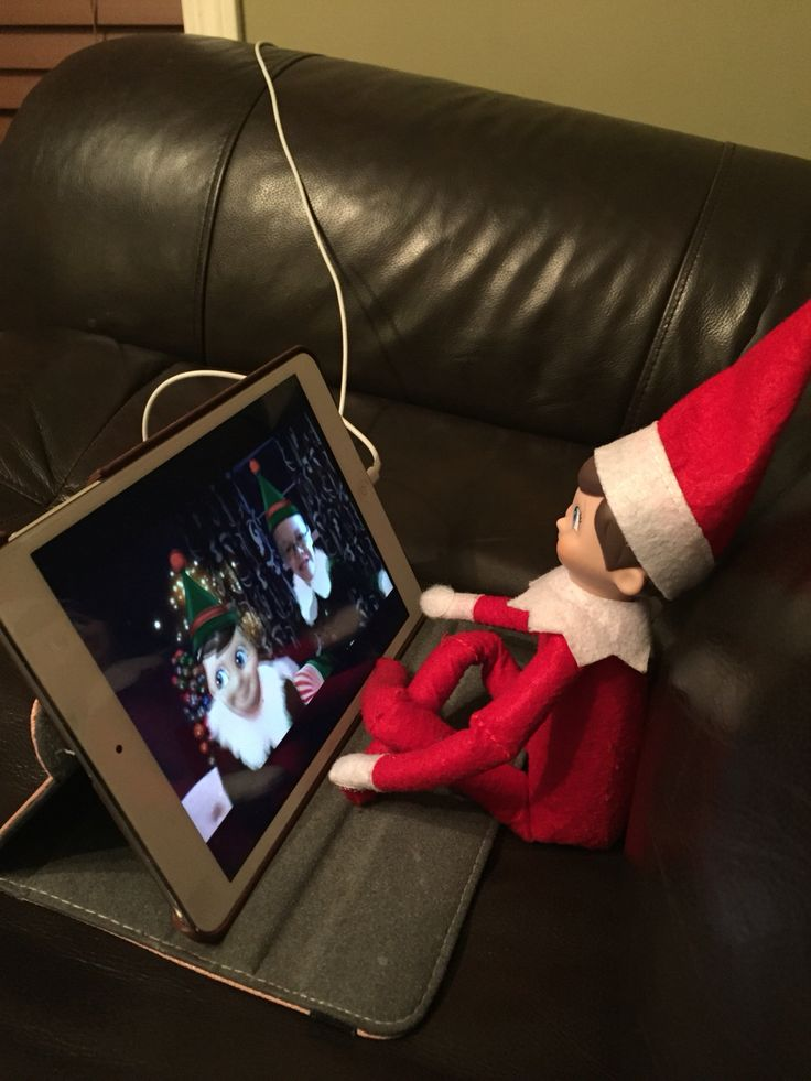 Elf on the shelf created an elf yourself video with him and the kids in it.