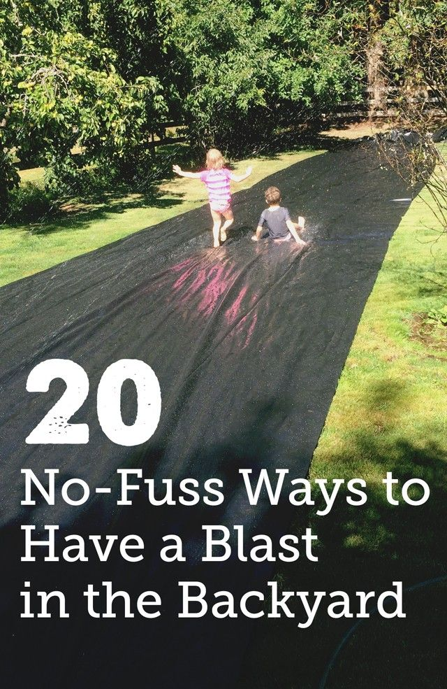 20 No-Fuss Backyard Play Ideas for Kids - Getting so many good ideas for our summer bucket list. Love how easy they all are - gonna go do #2 right now!