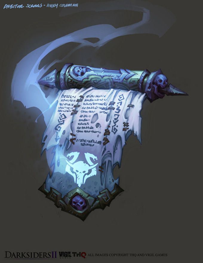 Darksiders II Item Scroll by CorruptedDeath.deviantart.com on @deviantART