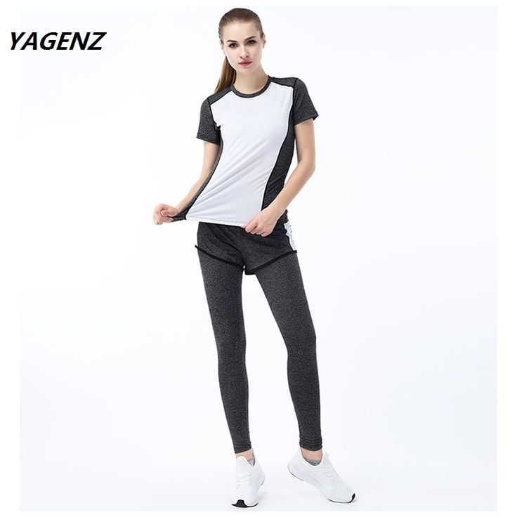Women Tracksuit 2 Piece Set summer Women's Sporting Set Fitness Suit Breathable Thin Slit Trousers Two set women Sporting Set  #Affiliate