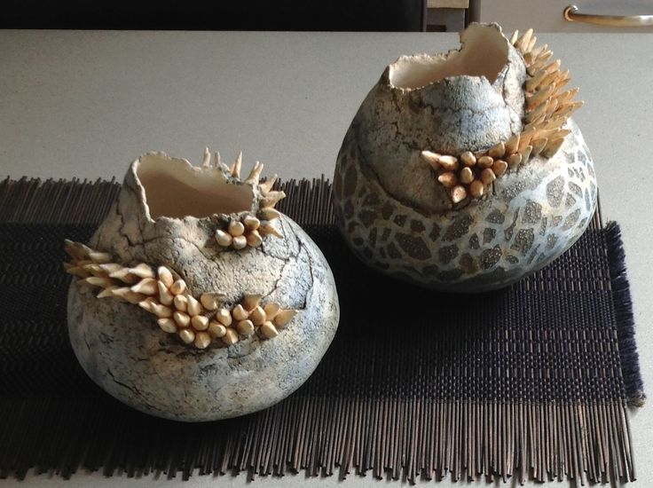 Organische potten. Elly Claessen