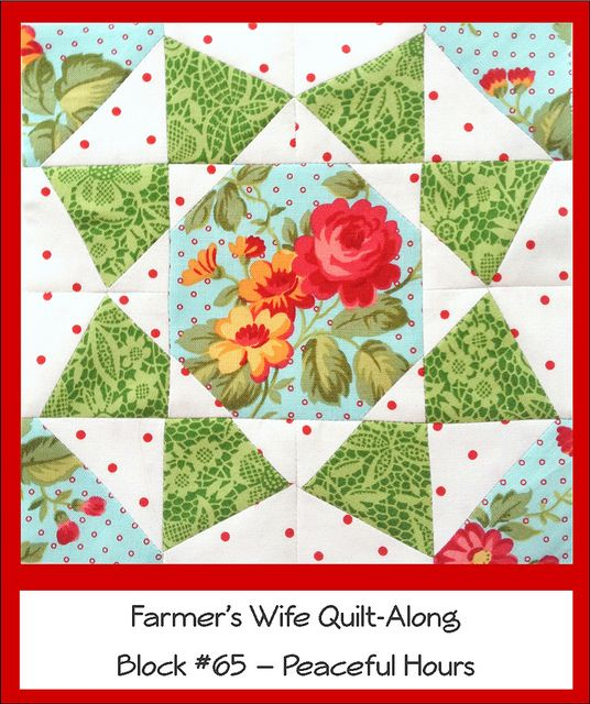 Farmer's Wife Quilt Along Block #65 - Peaceful Hours by Ellie@CraftSewCreate, via Flickr