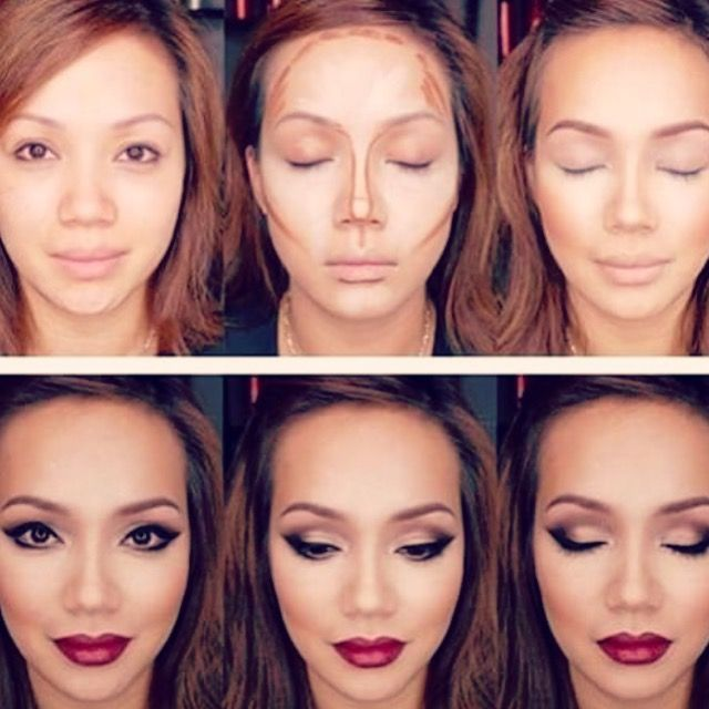 Transformation Tuesday Look like a pro makeup artist with younique highlight and contour duo set. Complete the look with Sleek lipsstain, bb flawless foundation, eyeshadow palette 2. Create your own look today   makeupaddictstash.com  #mascara #make