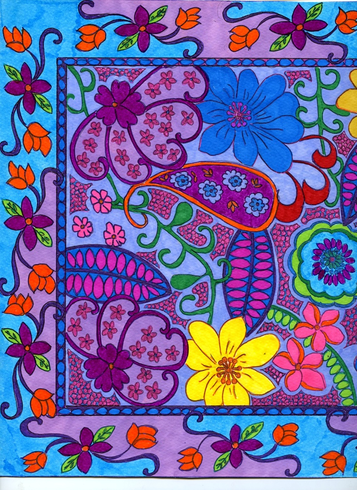 ...another section of paisley flower from sarong ...