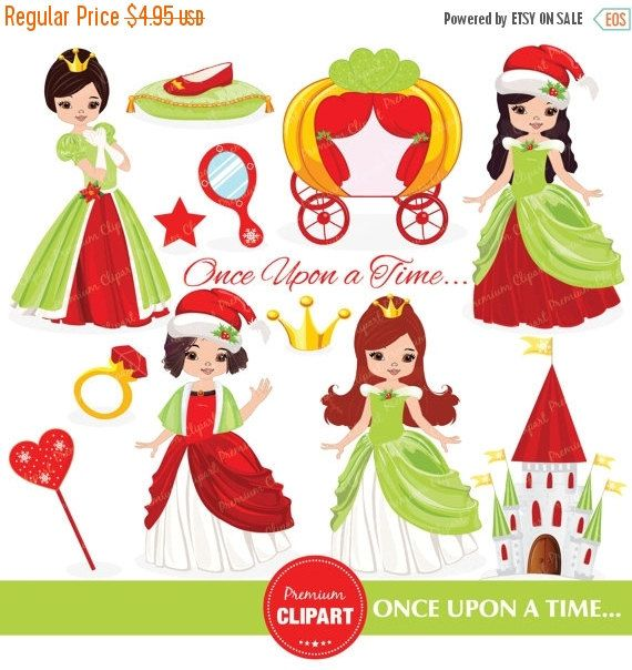 70% OFF SALE Christmas princess clipart, princess clipart, christmas carriage clipart, clip art, girl clipart, Christmas clipart - CA224 by PremiumClipart on Etsy