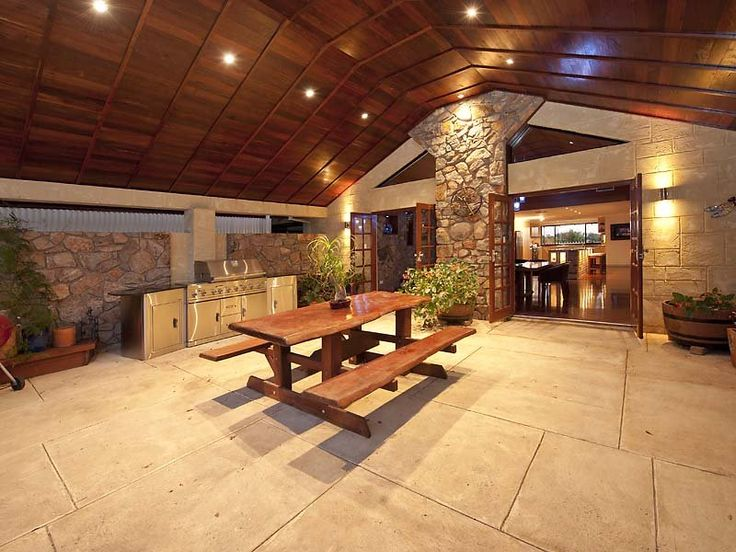 Outdoor living design with bbq area from a real Australian ... on Indoor Outdoor Entertaining Areas id=24105