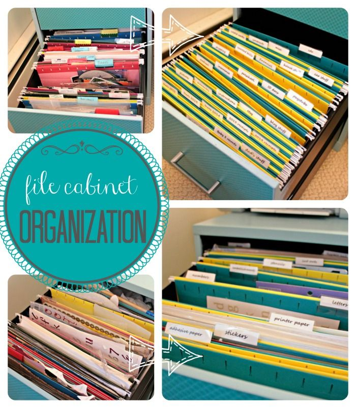 File Cabinet Organization  |  View From The Fridge