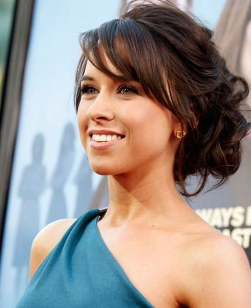 Cute Updo Hairstyles with Side Swept Bangs