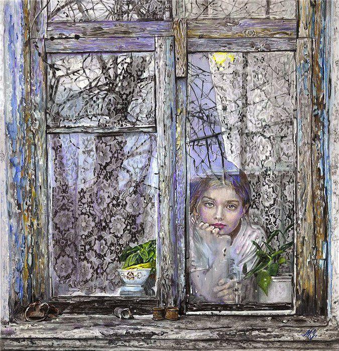 Мария Зельдис. У окна (675x700, 206Kb)