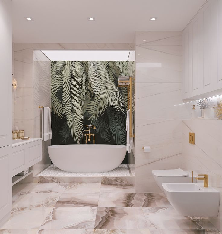 The Bathroom Is Made In A Classic Style With Modern Elements Upon