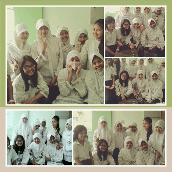 With girls in recess time♥
