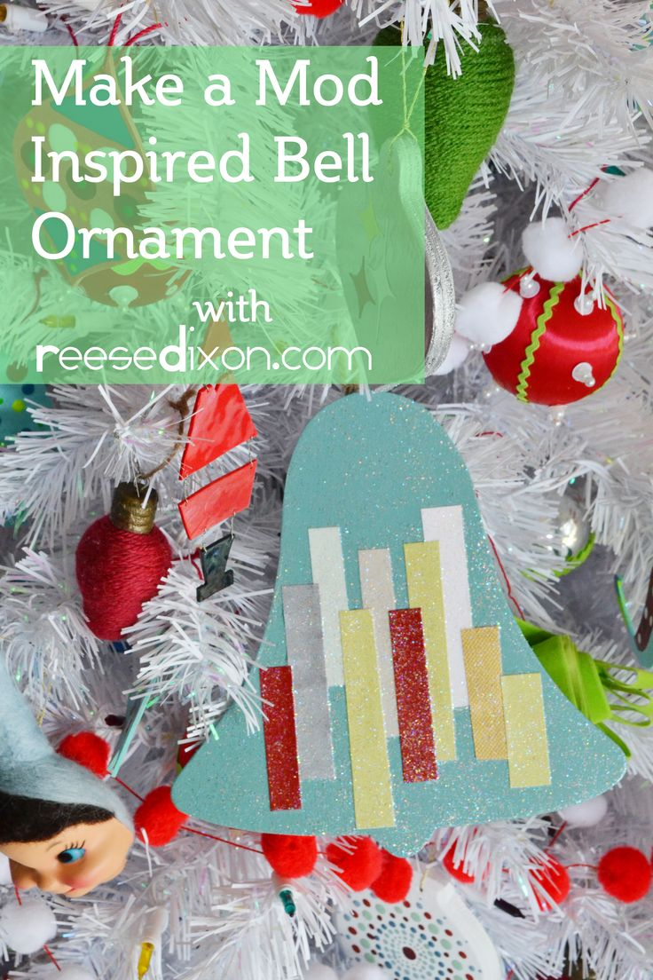 Make A Mod Ornament For Your Kitschy Christmas Tree With This Easy Craft Tutorial