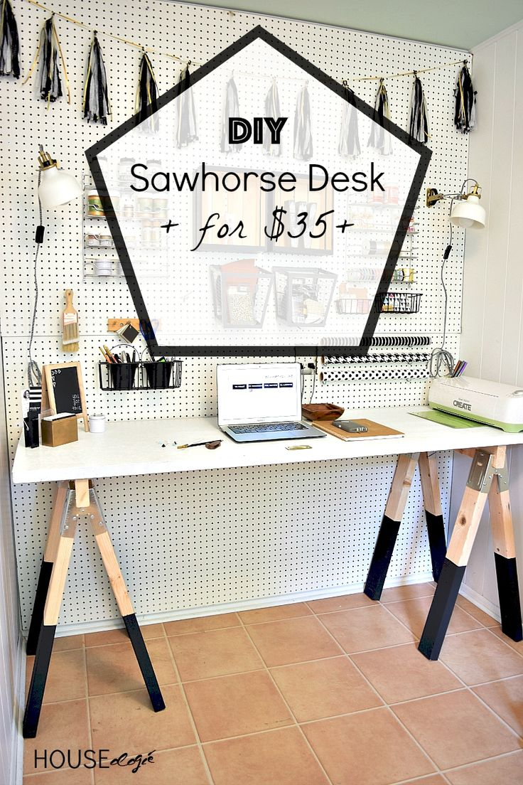 If you don't want to shell out $$$ for a craft room desk that  isn't perfect for your space you can DIY your own!