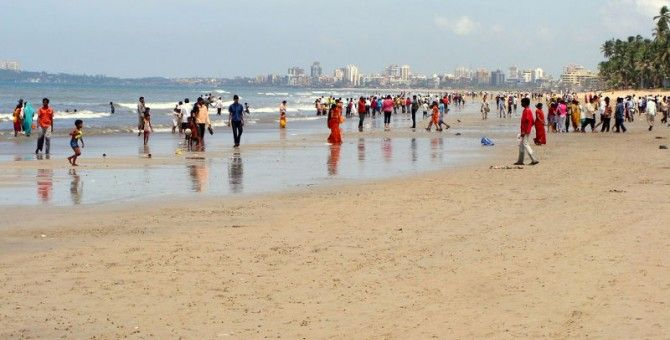 Juhu Beach Mumbai Hit The Like Who Went There