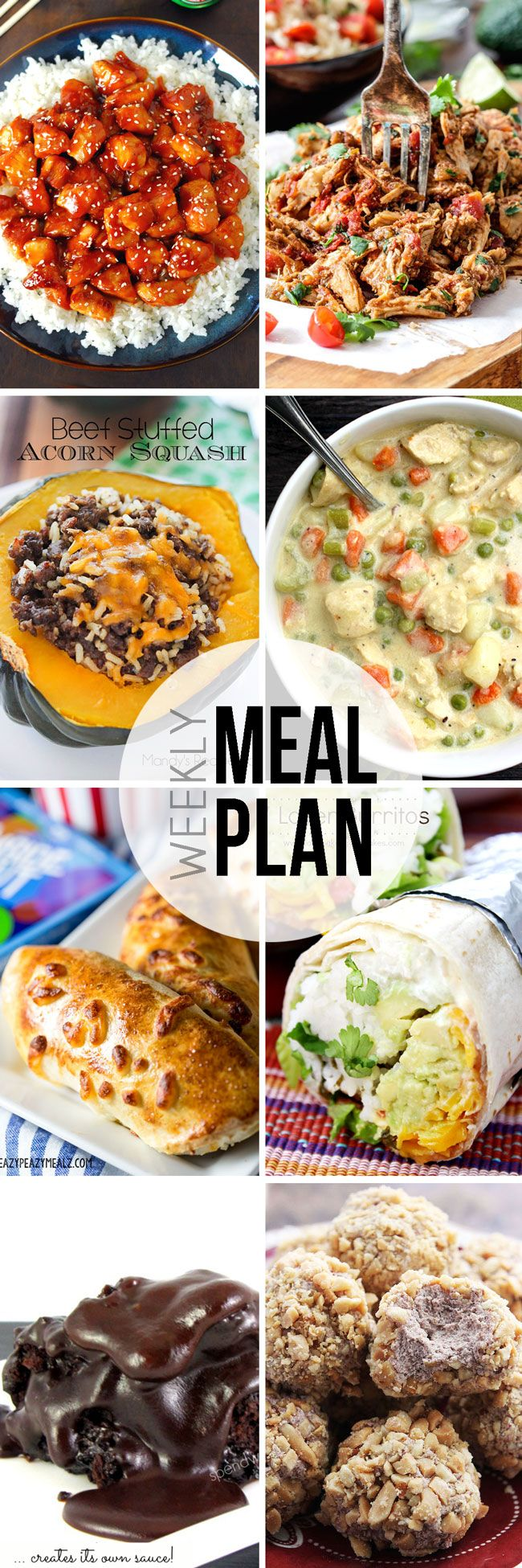Our Easy Meal Plan is perfect for planning your dinners for the week. We have six dinner, one breakfast, and two dessert recipes for your meal planning pleasure!