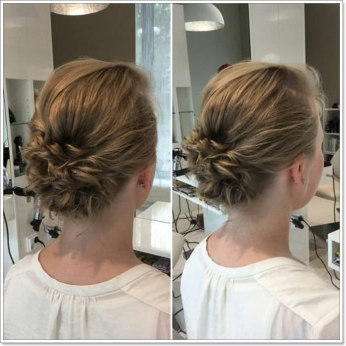 110 Beautiful Short Hair Updos For Everyday Wear And Special Occasions Short Hair Updo Short Hair Styles Thin Hair Updo