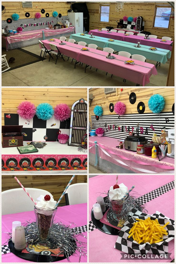 50S Themed Birthday Party Ideas  50S Theme Parties, 50S Party Decorations, Grease -5048