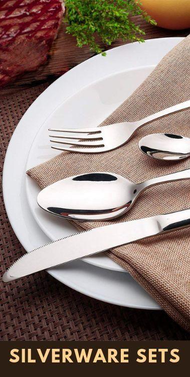 Kitchen Goods Store Multi Pendant Lighting Stainless Steel Flatware Sets High Grade Mirror Polishing 24 Pc Silverware Utensil Handy Gadgets Tools In