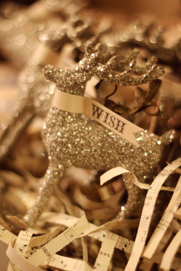 Wendy Addison's glitter glass deer