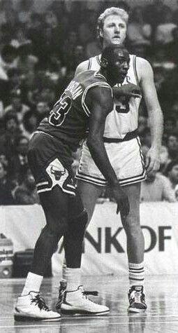 Michael Jordan and Larry Bird