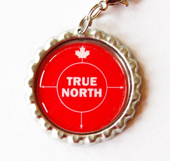 Canada charm, Canada Zipper charm, Canada Day, zipper pull, purse charm, True North, Red, bottlecap charm (etsy)