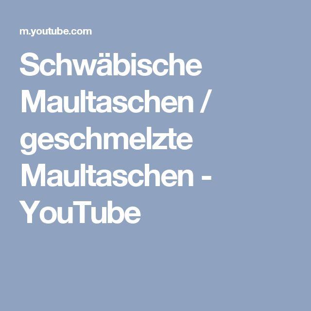 Schwäbische Maultaschen / geschmelzte Maultaschen - YouTube