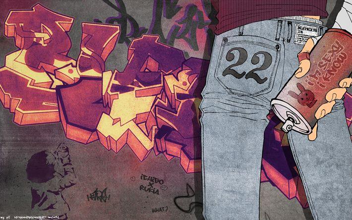 Hämta bilder Ichigo Kurosaki, manga, graffiti, Blekmedel