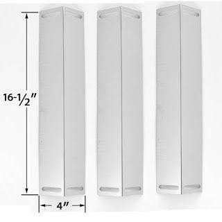 Grillpartszone- Grill Parts Store Canada - Get BBQ Parts,Grill Parts Canada: Grill Chef Heat Plate | Replacement 3 Pack Stainle...