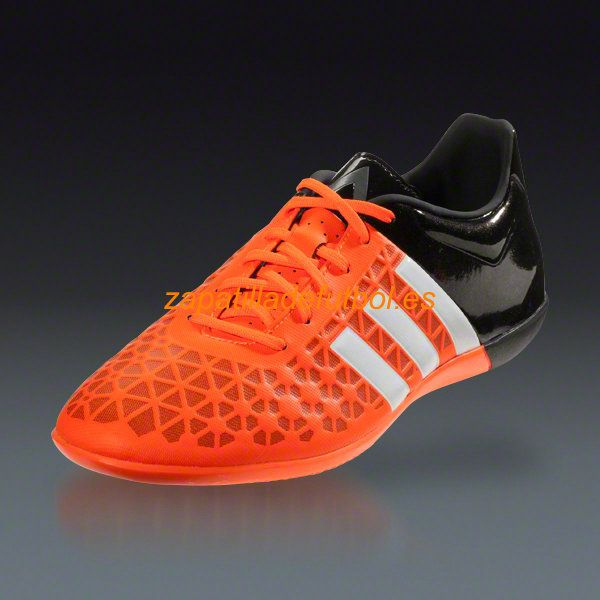 Zapatillas de futbol sala Adidas Ace 15.3 IN Blanco Negro Naranja