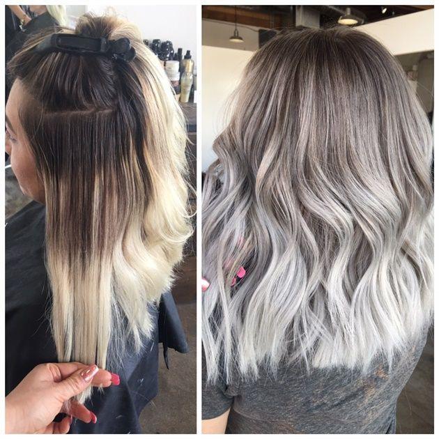 CORRECTION: Banded Boo-Boo To Smokey Silver Melt - Hair Color - Modern Salon
