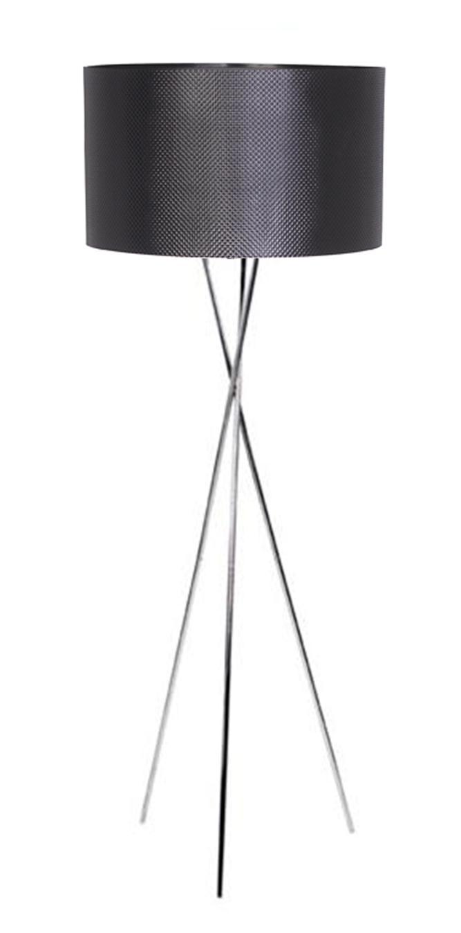 Felix Floor Base with Diamond Black Shade - Lamps - Floor - Lighting : CAFE Lighting