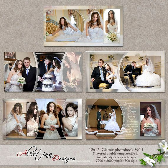12x12 Templates Classic Photobook Vol.1 PSD 5 от DesignsAlevtina