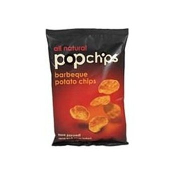 "Barbecue Pop Chips are so good! They are made of potato, but they are ""popped"" not fried or baked.Popchips"