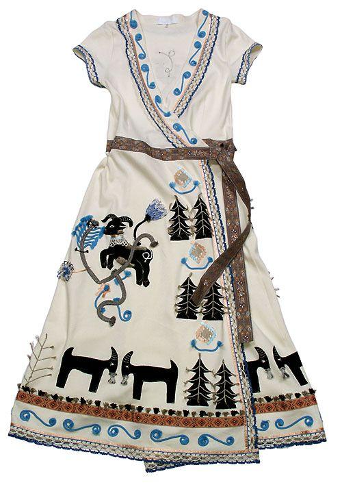 Inspiration:  - Трикотажное запашное платье с аппликацией (Козлик), Razu Mikhina